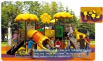 outdoor playground, plastic outdoor slide, children plastic playground DWP010A
